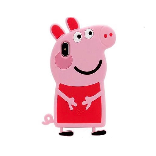 3D Pepper Pig Silicone Case