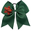 "Thumbnail: 7"" Green Snow Flake Ribbon Hair Tie"