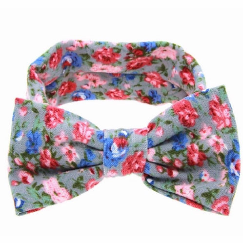 Floral Print Bow Turban