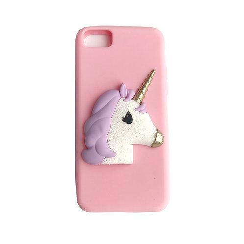 3D Unicorn Pastel Silicone Case
