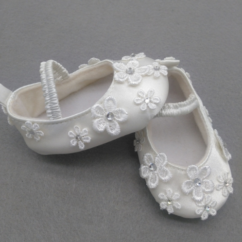 Embroided Flower Baby Shoes
