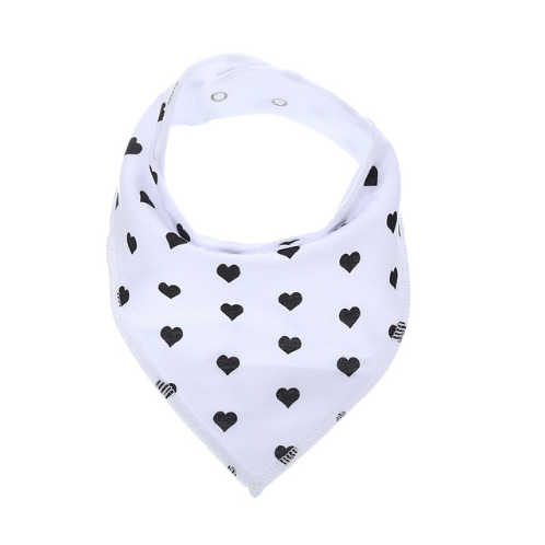 Black Hearts Bandana Bib