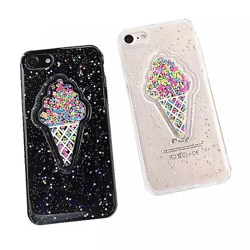 Glitter Ice Cream Sprinkles Silicone Case