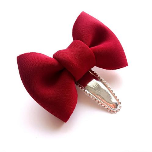 Cotton Bow Hair Clip
