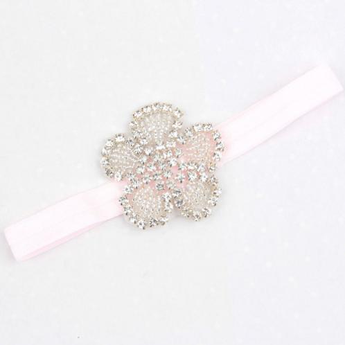 Beaded Crystal Flower Elastic Headband