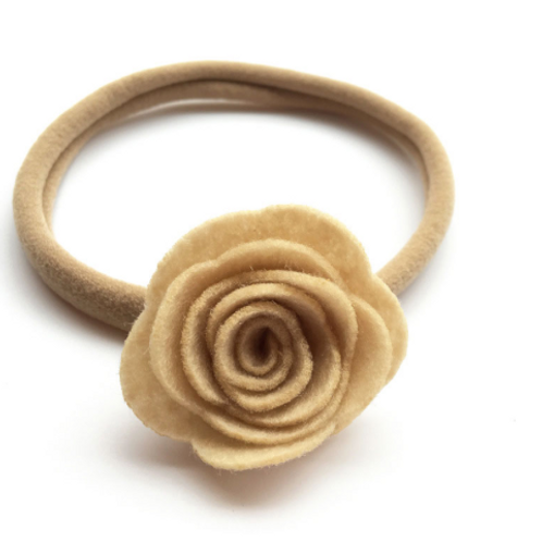 Felt Rose Nylon Headband