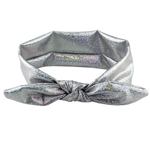 Shimmer Iridescent Metallic Tied Turban