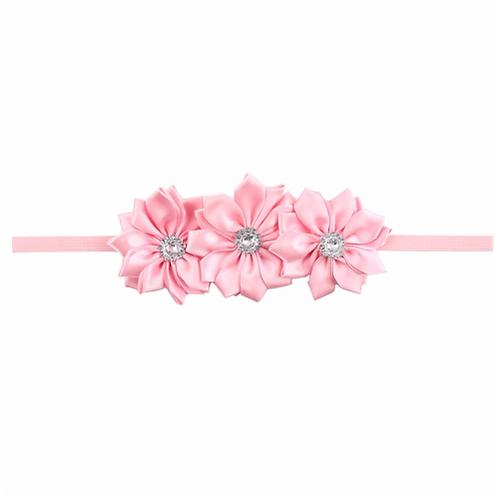 Diamond Flower Elastic Headband