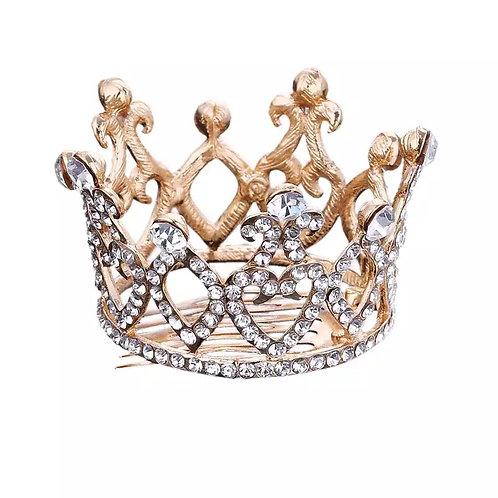 Rhinestone Crown Hair Comb