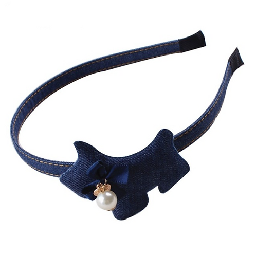 Denim Doggy Headband
