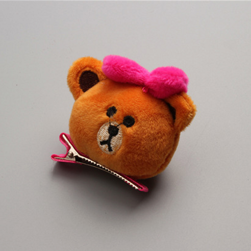Plush Brown Bear Hair Clip