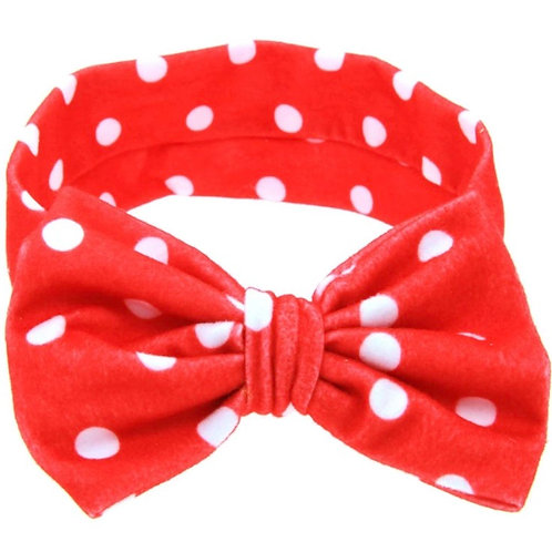 Polka Dots Bow Turban