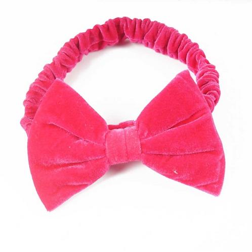 Solid Velvet Bow Turban