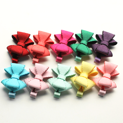 Pastel Double Layered Bow - Set of 10