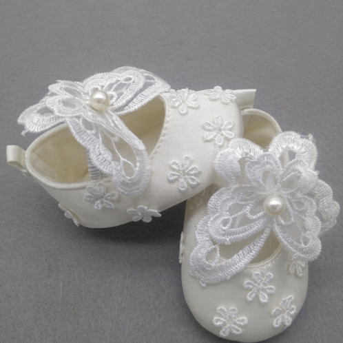 Butterfly Pearl Baby Shoes