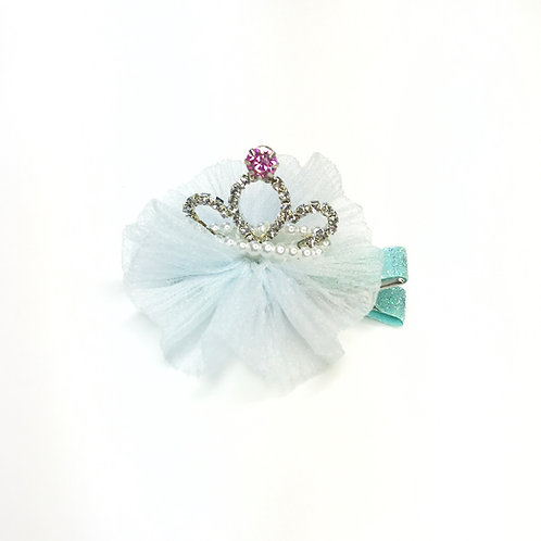 Rhinestone Pearl Crown Hair Clip