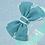 Baby Girls Kids Teal Blue Burgundy Burlap Bow Elastic Headband