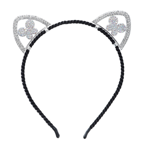 Rhinestone Butterfly Cat Ear Headband