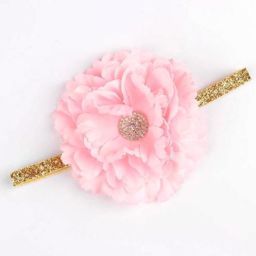 Embellished Peony Elastic Headband