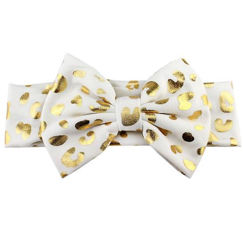 Cheetah Print Metallic Bow Turban