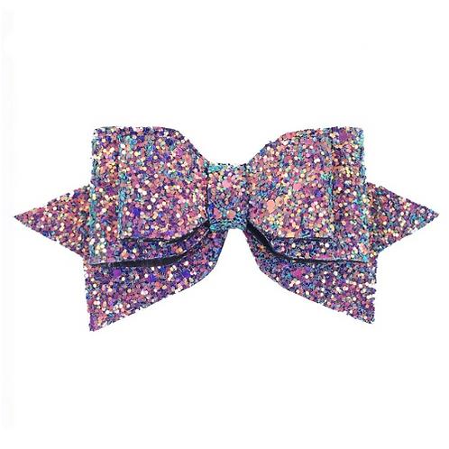 "5"" Double Layered Multicolor Glitter Hair Clip"