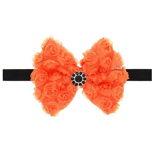 Lace Floral Bow Elastic Headband
