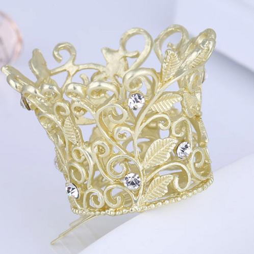 Gold Princess Tiara Hair Comb
