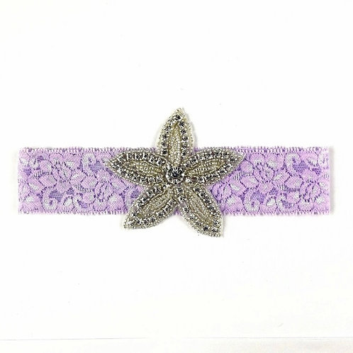 Lace Crystal Star Headband