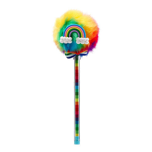 Rainbow Pom Pom Pen