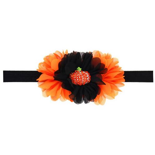 Embellished Pumpkin Elastic Headband
