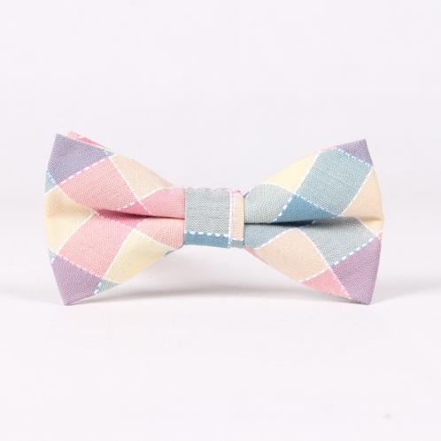 Baby Boys Kids Pink Plaid Bow Tie Wedding Birthdays