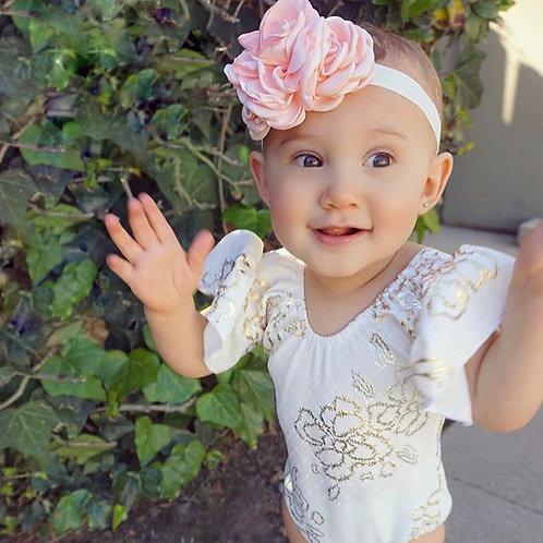 Rosie Posie Elastic Headband