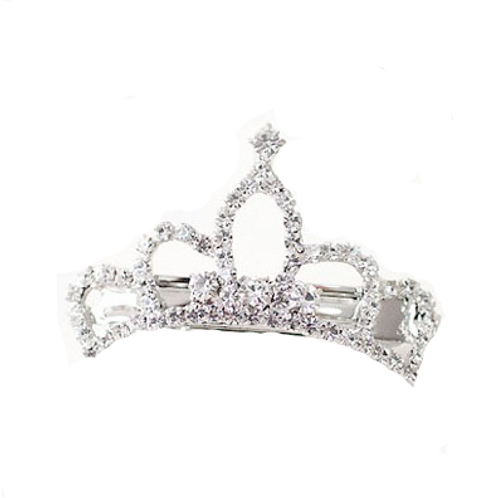 Mini Crown Barrette Hair Clip