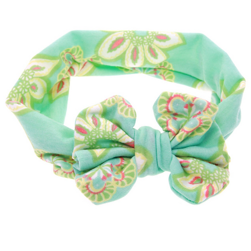 Pastel Cotton Bow Turban