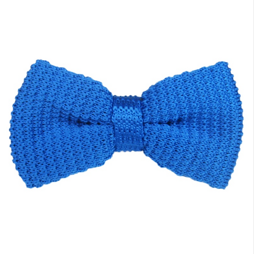 Solid Color Knitted Bow Tie
