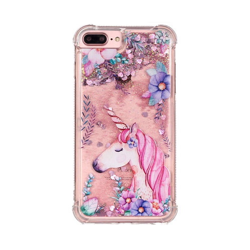 Floral Unicorn Quicksand Case