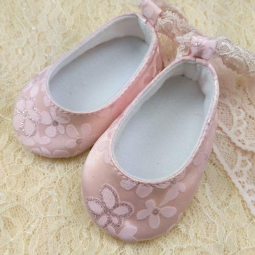 Floral Print Satin Shoes