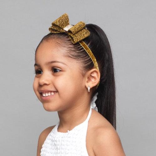 Shimmering Bow Elastic Headband