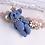 Thumbnail: Denim Teddy Bear Embellished Hair Clip