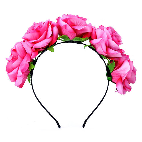 Rose Floral Crown Headband