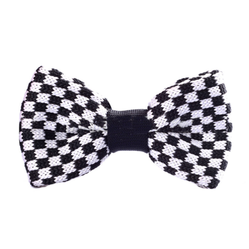 Black & White Knitted Bow Tie