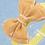 Baby Girls Kids Yellow Burgundy Burlap Bow Elastic Headband
