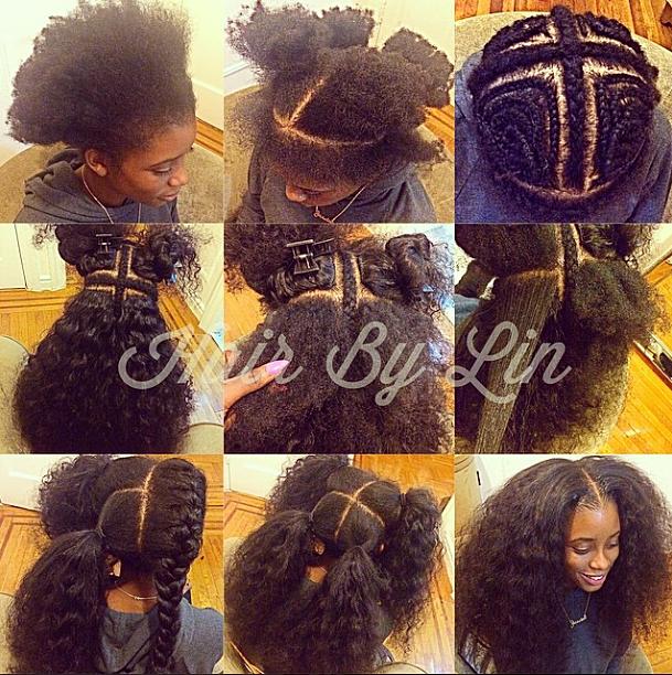 Fabulous Hair By Lin 4 Part Vixen Weave Installation Hairstyles For Women Draintrainus