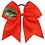 "Thumbnail: 7"" Red Snow Flake Ribbon Hair Tie"