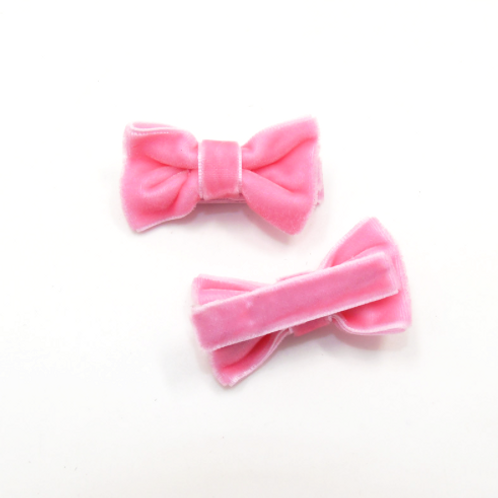 Mini Velvet Bow Clip