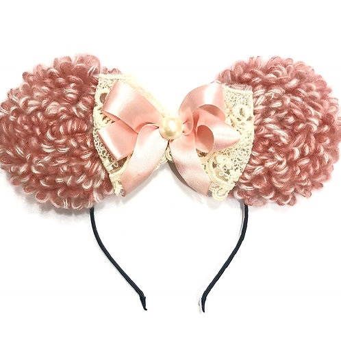 Minnie Knitted Lace Bow Headband