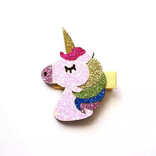 Rainbow Unicorn Hair Clip