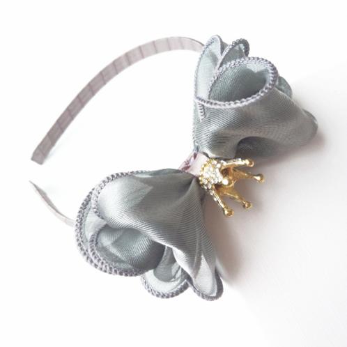 Organza Crown Embellished Headband