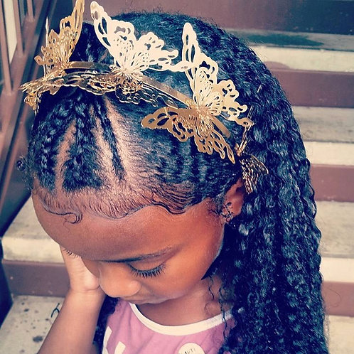 Gold Butterfly Crown Headband