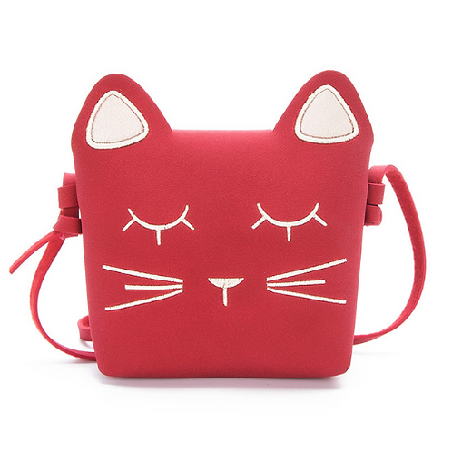 Suede Kitty Coin Purse